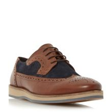 Linea Banoffee two tone wedge brogue shoe