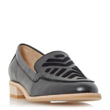 Dune Geniva stitch detail vamp loafers