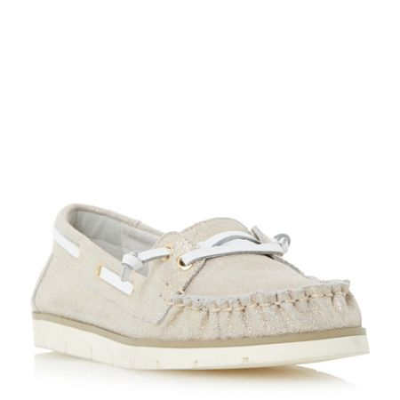 Dune Galley lace up boat shoes