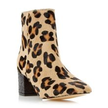 Dune Pebble block heel ankle boots
