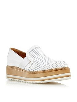 Graft perforated flatform shoes