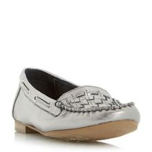 Dune Goffy woven detail moccasin shoes
