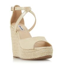 Dune Krytal strappy wedge sandals