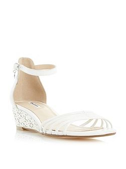 Kayleen strappy laser cut wedge sandals