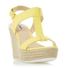 Dune Kelby t-bar espadrille wedge sandals