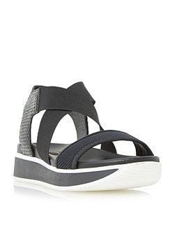 Lyrix cross strap flatform sandals