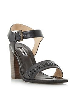 Ida weave detail block heel sandals