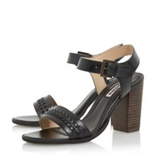Dune Ida weave detail block heel sandals