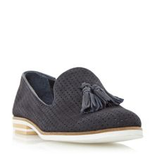 Dune Gale lasercut tassel slip on shoes