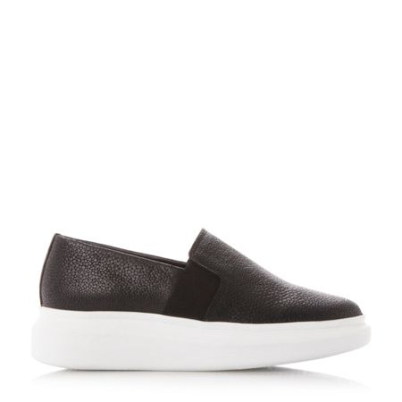 Dune Black Enza slip on shoes