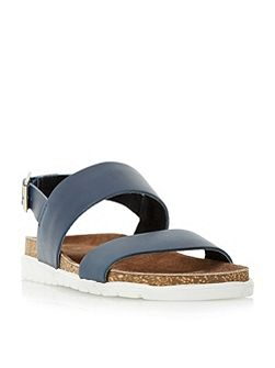 Ice pop double strap white sole sandals