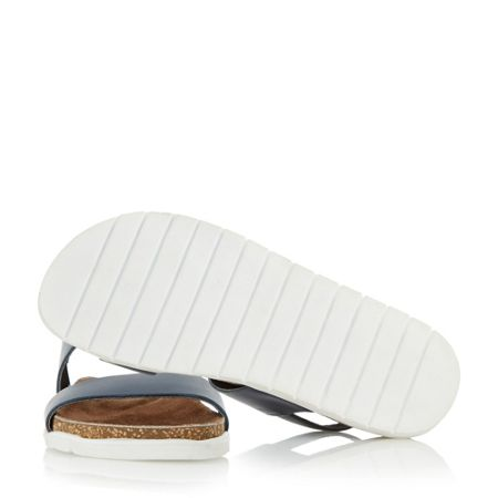 Dune Ice pop double strap white sole sandals