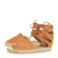 Head Over Heels Gilli two part lace up espadrille shoes