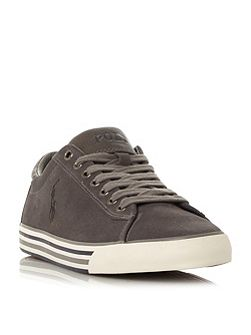 Harvey striped sole suede trainers