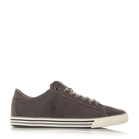 Polo Ralph Lauren Harvey striped sole suede trainers