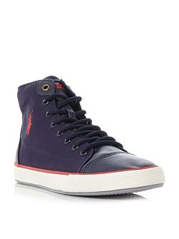 Kelsey canvas hi top trainers
