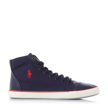 Polo Ralph Lauren Kelsey canvas hi top trainers