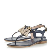 Dune Laviniya toe post tassel flat sandals