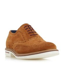 Dune Brooklyn height white sole suede brogues