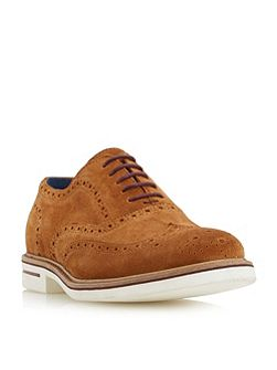 Brooklyn height white sole suede brogues