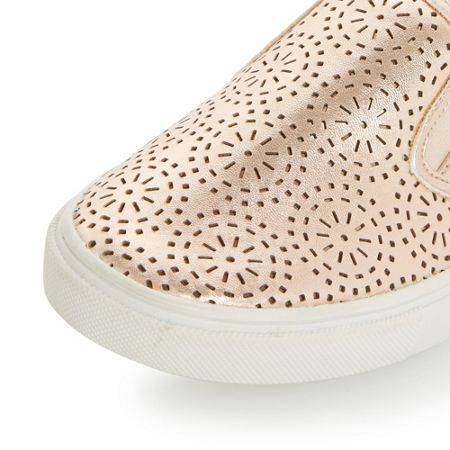 Head Over Heels Eletta laser cut slip on shoes