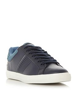 Fairlead ribbed side lace up trainer