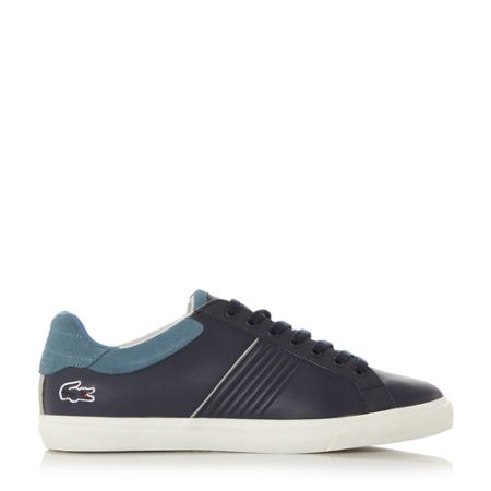 Lacoste Fairlead ribbed side lace up trainer