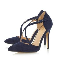 Head Over Heels Candice cross strap pointed court shoes