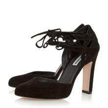 Dune Cannes round toe block lace up shoes