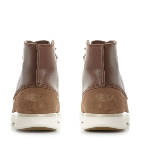 UGG Lamont lace up white sole boots