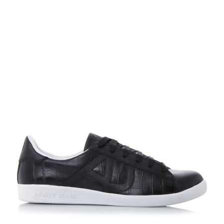 Armani Jeans 0935565 croco embossed trainers
