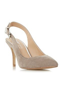 Cissy buckle detail open court shoes