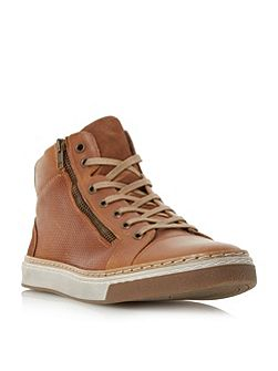 Spectrum side zip high top trainers
