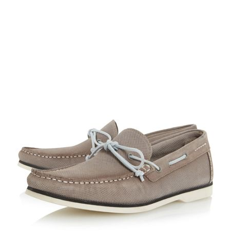 Bertie Bubble textured suede boat shoes