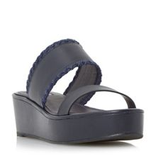 Dune Kryptic whipstitch flatform sandals