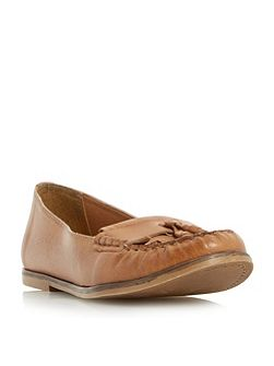 Gillie tassel and fringe detail loafers