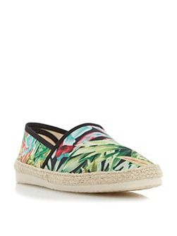 Fiji tropical print espadrille shoes