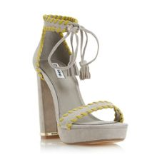Dune Maggy whipstitch platform sandals