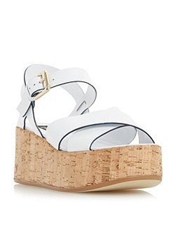 Lately cork effect flatform sandals