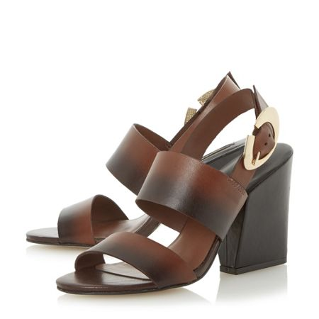 Dune Black Javar buckle sandals