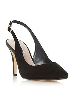 Cathy slingback mid heel court shoes