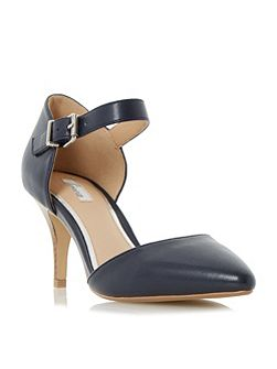 Charta stacked heel open court shoes
