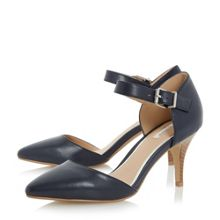 Linea Charta stacked heel open court shoes