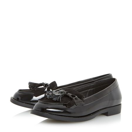 Head Over Heels Gwenie bow fringe loafers