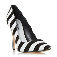 Dune Bellisimo monochrome striped court shoes