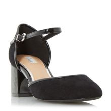 Linea Crawford two part block heel court shoes