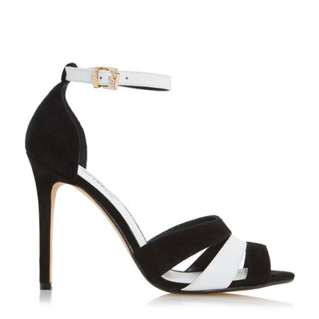 Dune Magpie caged front high heel sandals