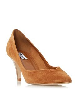 Adelaide pointed mid heel court shoes