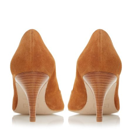 Dune Adelaide pointed mid heel court shoes