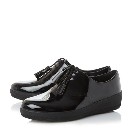 FitFlop Classic tassel patent oxford shoes